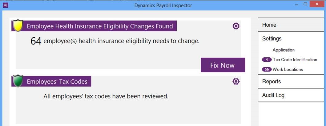 Dynamics Payroll Inspector Screenshot